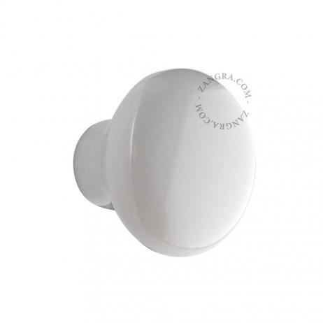 Bouton de tiroir blanc en porcelaine
