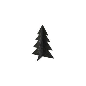 Décoration Sapin de Noël en métal coloris Noir