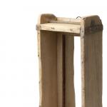 Ancien moule à brique en Bois ancien patiné avec Miroir