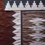 Tapis en coton Blanc et Sable à motifs tissés