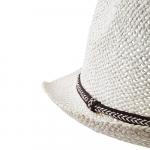 Chapeau en paille Blanc ajouré