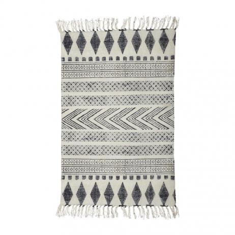 Tapis Couloir avec motif Berbère Gris / Noir en Coton et polyester