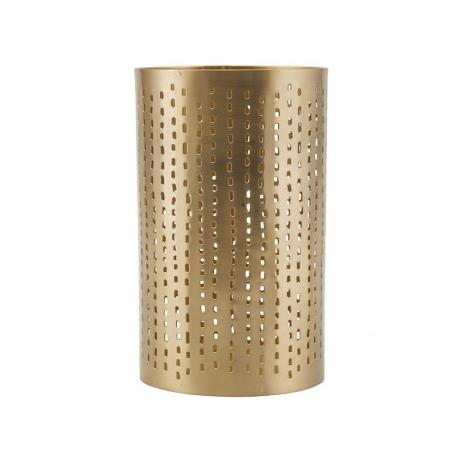 Bougeoir en métal perforé allongé Finition Laiton