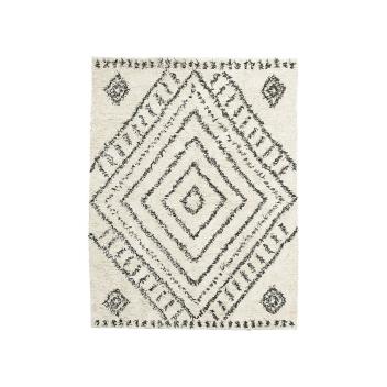 Grand Tapis avec motif Berbère Gris / Noir en Coton Haute qualité