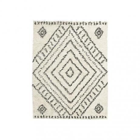 Tapis XL avec motif Berbère Gris - Noir en Coton