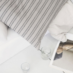Housse de Coussin carrée XL en Coton Gris clair 60 x 60 cm