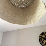 Suspension Marocaine Bohème en paille de palmier tressée