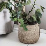 Panier ou cache pot en Herbier style Bohème et Naturel - Lot de 2