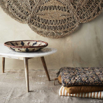 Coussin ou Galette de chaise motif Orange avec rayures