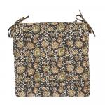 Coussin de chaise ou sol Coton motif floral Vert - Noir - Marron