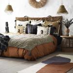 """Tapis Coton Couloir avec motif formes entrelacées modèle """"Masaï"""""""