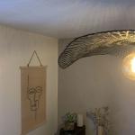 Suspension Libellule en Bambou Noir Mat
