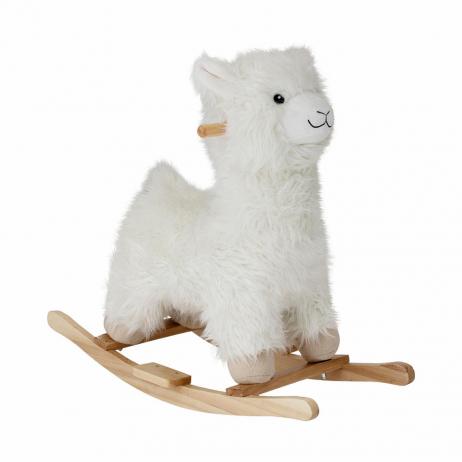 Lama à bascule blanc ou Rocking toy pour Enfants