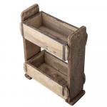 Étagère en bois Ancien patiné à partir de 2 moules à briques