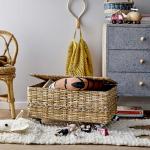 Set de 3 crochets muraux naturels en Canne