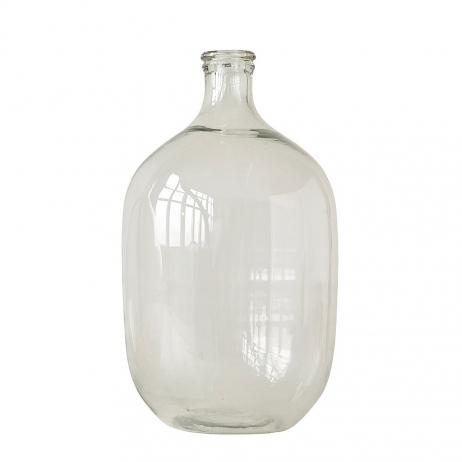 Vase ou dame-Jeanne en verre transparent