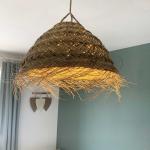 Suspension dôme M fibre palmier