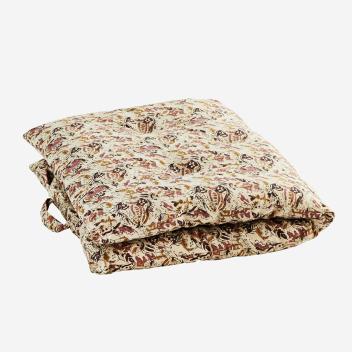 Sur-matelas motif floral Rose - Rubis - édredon en coton épais