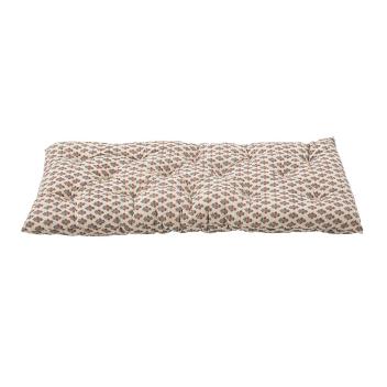 Sur-matelas épais fond clair motif Indien - édredon en coton très confort