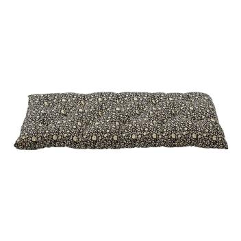 Sur-matelas épais fond noir motif Indien - édredon en coton très confort