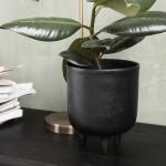 Cache-Pot pour fleur ou plantes en alu noir oxydé