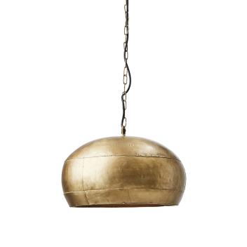 Suspension arrondie en métal Doré forme coupole toute équipée