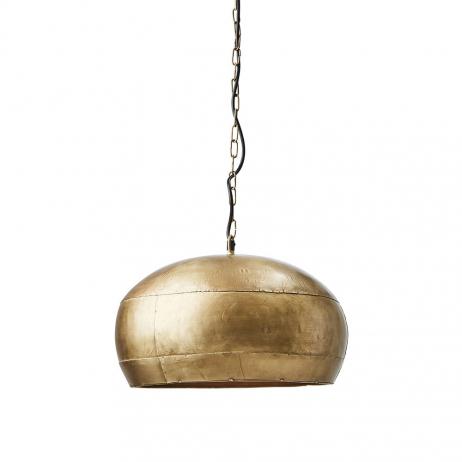 Suspension arrondie en métal Doré forme coupole