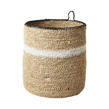 Panier ou cache pot en Jonc de Mer avec petite anse à suspendre ou poser