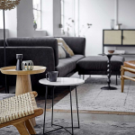 Tapis XL en Coton avec motif inspiré Berbère coloris Naturel et noir