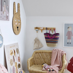 Porte-manteau mural Glaces en bois