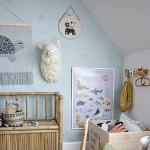 """Tenture murale Tortue """"Marry"""" en coton avec support bois - Bloomingville"""
