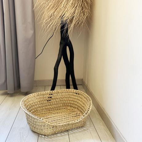 Panier pour animal en fibre de palmier