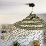 Suspension naturelle ajourée Parasol paille alfa