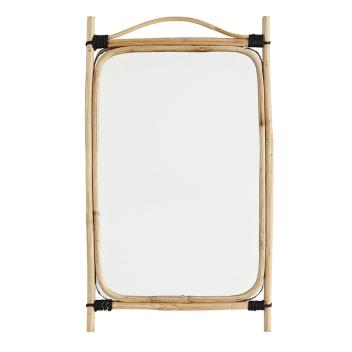 Miroir rectangulaire avec cadre bambou naturel