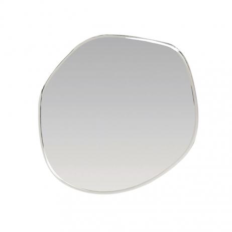 Grand Miroir XL en métal argenté forme Asymétrique