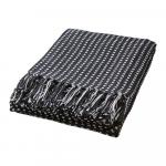 Couverture en Coton recyclé noir et blanc