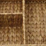 Casier de rangement 3 casiers ou corbeille tressée rigide en Jacinthe d'eau