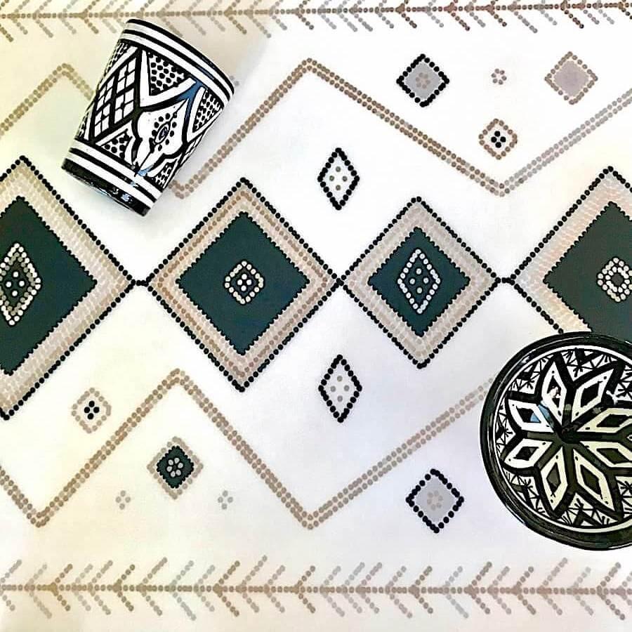 tapis ethnique pvc