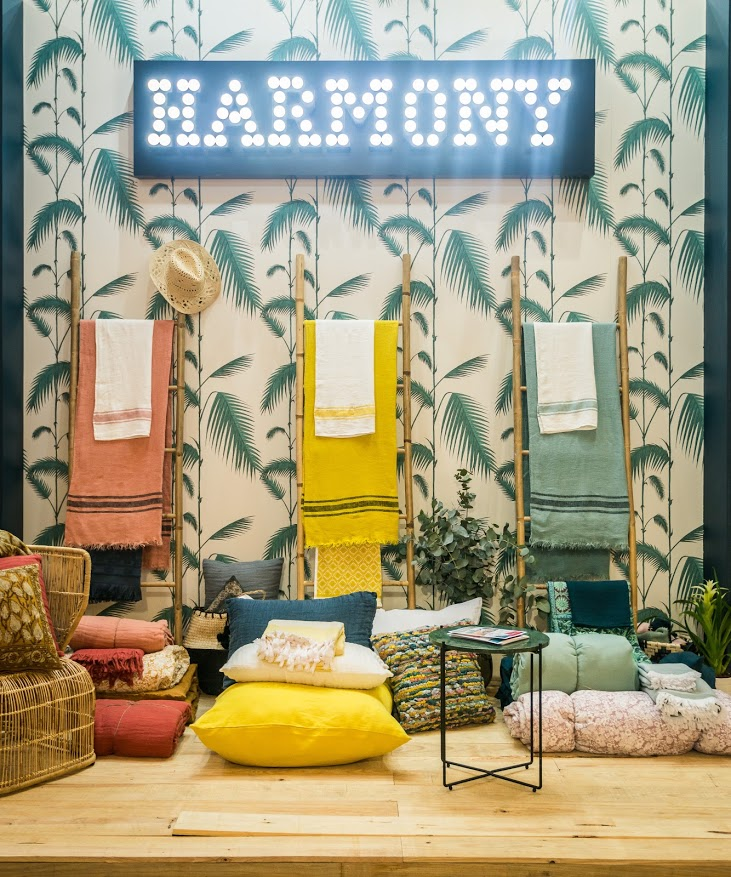 harmony linge de maison lin lav my bohem. Black Bedroom Furniture Sets. Home Design Ideas