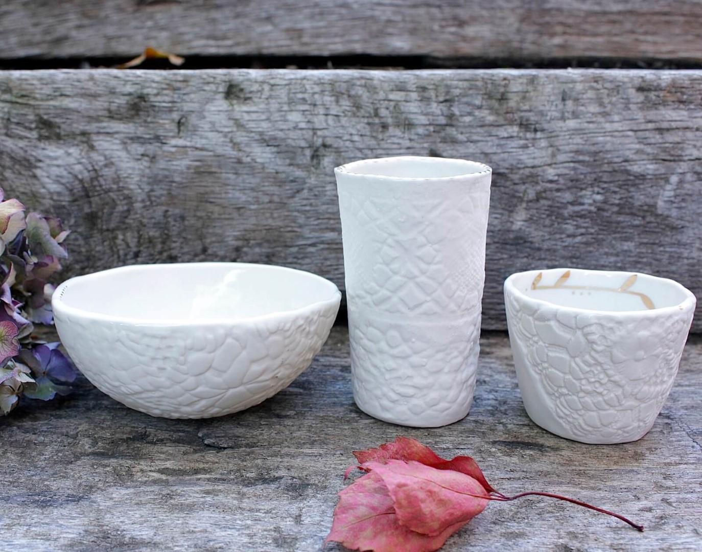 tasse et bol en porcelaine