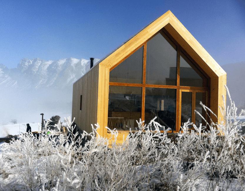 chalet moderne design neige
