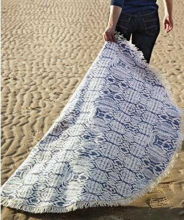 marche sur le sable - tapis rond