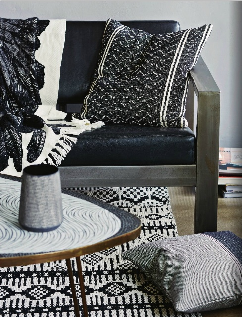 Coussins et tapis tissu lavable