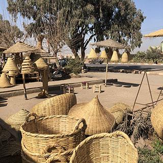 lampes paille du Maroc