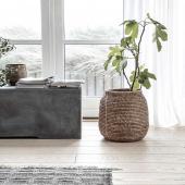 Un panier cache-pot en rotin foncé ✨idéal pour y glisser ses plantes vertes  ou tout simplement organiser son rangement ❤️ . . #decorationinterieur  #cachepot  #decoboheme  #panier  #homedecor