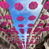 La jolie ville de Montpellier habillée de rose pour soutenir le combat contre le cancer du sein 💕 . . #octobrerose #montpelliercity