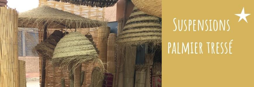 Suspensions marocaines en palmier