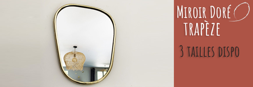 miroir trapèze arrondi