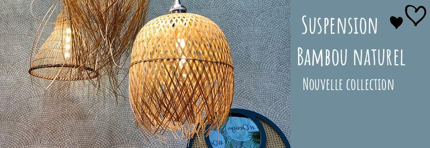 suspension naturelle en bambou