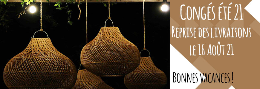 luminaires rotin Bali